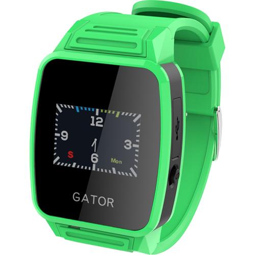 Детские часы-телефон Gator Caref Watch с трекером GPS зелёныеУмные часы<br>Умные часы CAREF с GPS трекером зеленые<br><br>Цвет товара: Зелёный<br>Материал: Пластик, силикон
