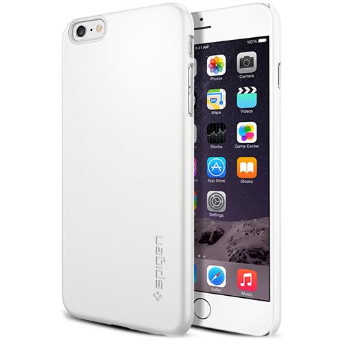 Чехол Spigen Thin Fit для iPhone 6/6s Plus (5.5) белый (SGP11101)Чехлы для iPhone 6s PLUS<br>Spigen Thin Fit один из самых тонких и прочных чехлов в мире!<br><br>Цвет товара: Белый<br>Материал: Поликарбонат