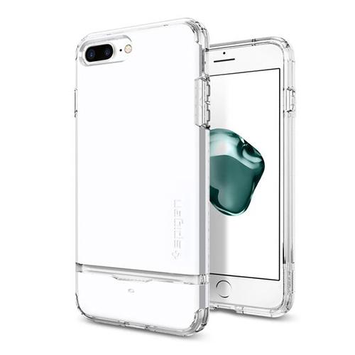 Чехол Spigen Flip Armor для iPhone 7 Plus (Айфон 7 Плюс) ультрабелый (SGP-043CS21047)Чехлы для iPhone 7 Plus<br>Чехол Spigen для iPhone 7 Plus Flip Armor ультра-белый (043CS21047)<br><br>Цвет товара: Белый<br>Материал: Поликарбонат, полиуретан