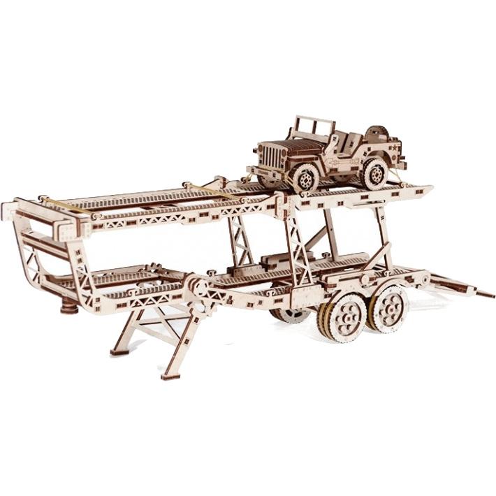 3D-конструктор из дерева Wood Trick Автомобильный прицеп3D пазлы и конструкторы<br>Сувениры Wood Trick — это механические 3D-модели, которые собираются без клея и понятны даже ребенку.<br><br>Цвет: Бежевый<br>Материал: Натуральное дерево (фанера)