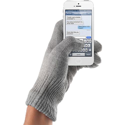 Перчатки Mujjo Touchscreen Gloves для iPhone/iPod/iPad/etc серые (Размер M/L)Перчатки для экрана<br>Mujjo Touchscreen Gloves обеспечивают точное нажатие на участок дисплея и гарантирует безотказный отклик устройства.<br><br>Цвет товара: Серый<br>Материал: Акрил, нейлон<br>Модификация: M
