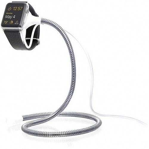 Док-станция Fuse Chicken Bobine Watch в стальной оплётке для Apple WatchДокстанции Apple Watch<br>FuseChicken Bobine Watch — самая гибкая и прочная док-станция в мире для умных часов Apple Watch.<br><br>Цвет: Серебристый<br>Материал: Нержавеющая сталь, пластик