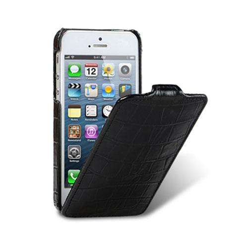 Чехол Melkco Premium Leather Case Jacka Type для iPhone 5 кроко чёрныйЧехлы для iPhone 5s/SE<br>Чехол премиум-класса с жёстким каркасом, покрытым натуральной кожей.<br><br>Цвет товара: Чёрный<br>Материал: Натуральная кожа, пластик, текстиль