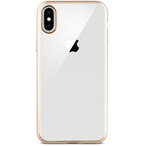 Чехол Uniq Glacier Frost для iPhone X золотойЧехлы для iPhone X<br>Защитите свой новенький iPhone X с помощью тонкого, прочного и прозрачного чехла Uniq Glacier Frost.<br><br>Цвет товара: Золотой<br>Материал: Поликарбонат, полиуретан