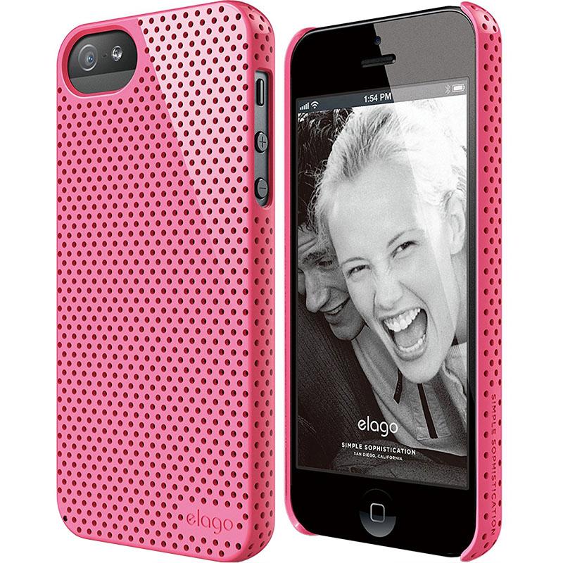 Чехол Elago Breathe Hard PC (perforated) для iPhone 5S/SE розовыйЧехлы для iPhone 5/5S/SE<br>Elago Breathe Hard PC справляется с защитой iPhone на отлично!<br><br>Цвет: Розовый<br>Материал: Поликарбонат, полиуретан