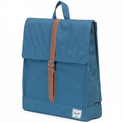 Рюкзак Herschel City Backpack Mid-Volume бирюзовыйРюкзаки<br>Herschel City Backpack Mid-Volume - удобный, стильный и компактный городской рюкзак.<br><br>Цвет товара: Бирюзовый<br>Материал: Полиэстер