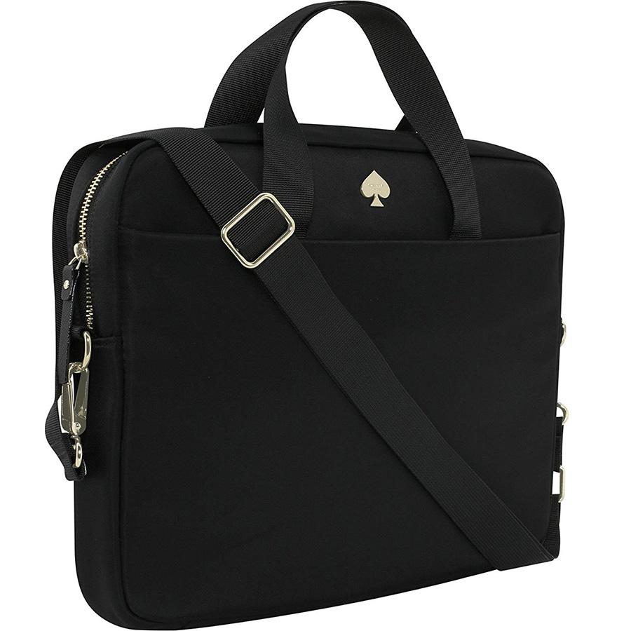 Сумка Kate Spade New York Nylon Laptop Bag для MacBook 13 чёрнаяСумки для ноутбуков<br>Благодаря Kate Spade New York Nylon Laptop Bag вы сможете всегда и везде брать ноутбук с собой.<br><br>Цвет товара: Чёрный<br>Материал: Нейлон