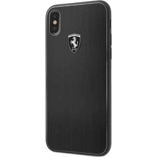 Чехол Ferrari Heritage Aluminium Hard для iPhone X чёрныйЧехлы для iPhone X<br>Ferrari Heritage словно превращает ваш iPhone X в гоночный автомобиль.<br><br>Цвет товара: Чёрный<br>Материал: Алюминий, силикон