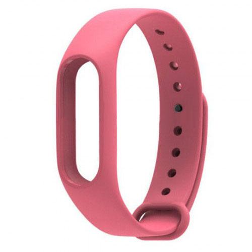 Ремешок для браслета Xiaomi Mi Band 2 розовыйРемешки для браслетов<br>Радужные ремешки позволят подобрать цвет браслета под настроение!<br><br>Цвет товара: Розовый<br>Материал: Силикон