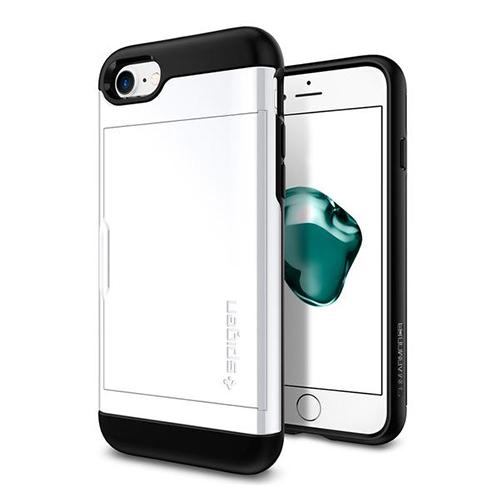 Чехол Spigen Slim Armor CS для iPhone 7/ iPhone 8 ультрабелый (SGP-042CS21038)Чехлы для iPhone 7<br>Чехол Spigen Slim Armor CS для iPhone 7 (Айфон 7) ультро-белый (SGP-042CS21038)<br><br>Цвет товара: Белый<br>Материал: Поликарбонат, полиуретан