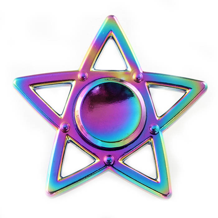 Спиннер Fidget Glory Rainbow Series Звезда SP4559Игрушки-антистресс<br>Благодаря покрытию «хамелеон» спиннер Fidget Glory захватывает внимание с первой секунды!<br><br>Цвет товара: Разноцветный<br>Материал: Металл