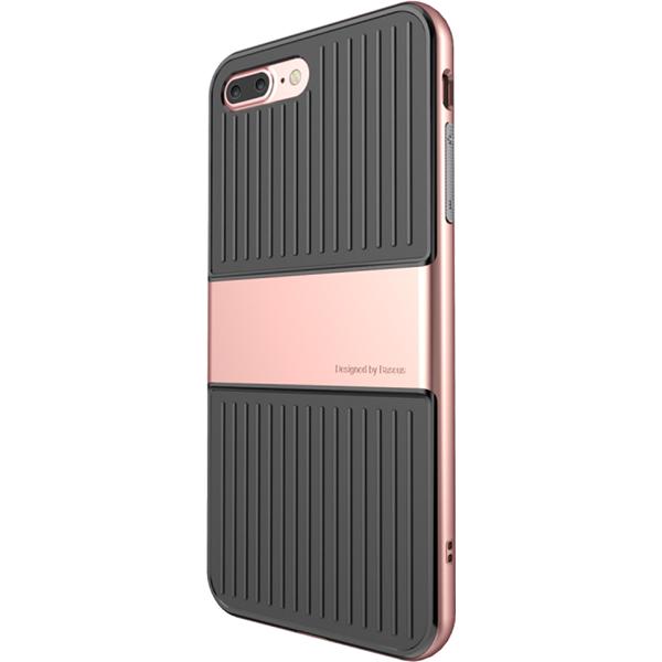 Чехол Baseus Travel Case для iPhone 7 Plus розовое золотоЧехлы для iPhone 7/7 Plus<br>Чехол Baseus Travel Case для iPhone 7 Plus - розовый<br><br>Цвет товара: Розовое золото<br>Материал: Поликарбонат, термопластичный полиуретан