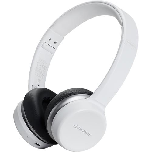 Наушники Phiaton BT 390 белыеНакладные наушники<br>Беспроводные наушники Phiaton BT 390 позволят вам наслаждаться глубоким и насыщенным звуком до 30 часов без подзарядки.<br><br>Цвет товара: Белый<br>Материал: Пластик, текстиль