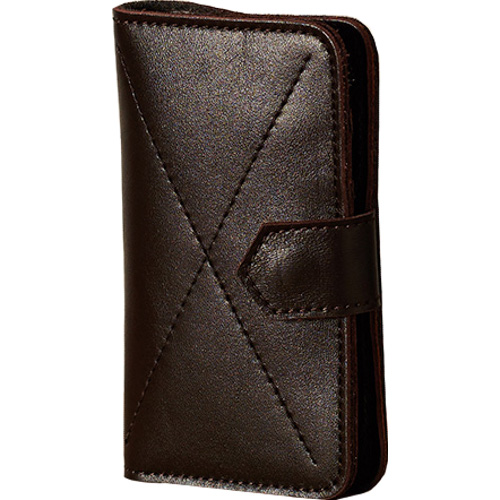 Чехол-бумажник Ray Button Kassel для iPhone 5/5S/SE коричневыйЧехлы для iPhone 5s/SE<br>Чехол-бумажник RAY BUTTON для iPhone 5/5s/SE - Kassel Dark Brown [30C33S5]<br><br>Цвет товара: Коричневый<br>Материал: Натуральная кожа, войлок