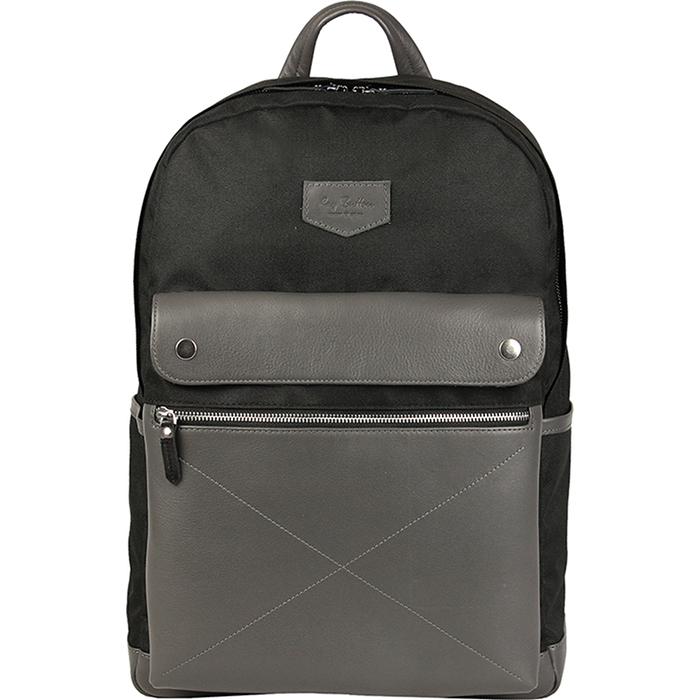 Рюкзак Ray Button Bergen для MacBook 15 чёрный/серыйРюкзаки<br>Даже при активном ношении Ray Button Bergen сохранит свой первозданный вид.<br><br>Цвет товара: Чёрный<br>Материал: Натуральная кожа, нейлон