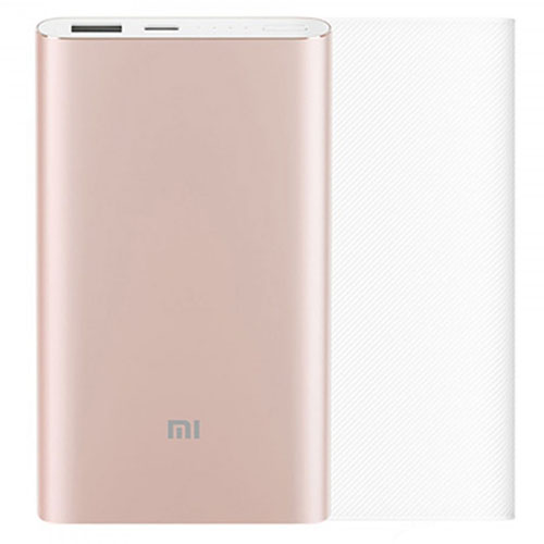 Внешний аккумулятор Xiaomi Mi Power Bank Pro Type-C Suit Version 10000 мАч розовый с прозрачным чехломВнешние аккумуляторы<br>Xiaomi Mi Power Bank Pro с интерфейсом Type-C сможет стать Вашим постоянным спутником.<br><br>Цвет товара: Розовый<br>Материал: Алюминий
