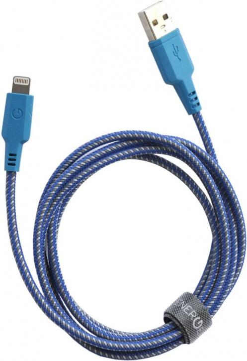 Кабель EnergEA Nylotough Lightning MFI (1.5 метра) синийКабели Lightning<br>Возможно, кабель EnergEA Nylotough будет последним кабелем, который вы купите.<br><br>Цвет товара: Синий<br>Материал: Пластик, нейлон