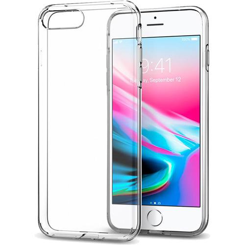Чехол Spigen Liquid Crystal для iPhone 8 Plus / 7 Plus кристально-прозрачный (055CS22233)Чехлы для iPhone 7 Plus<br>Гибкий чехол из термопластичного полиуретана ТПУ даёт превосходную амортизацию при любых шоковых нагрузках.<br><br>Цвет товара: Прозрачный<br>Материал: Термопластичный полиуретан