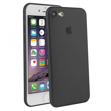 Чехол Uniq Bodycon для iPhone 7 (Айфон 7) чёрный полупрозрачныйЧехлы для iPhone 7/7 Plus<br>Чехол Uniq для iPhone 7 Translucent black<br><br>Цвет товара: Чёрный<br>Материал: Поликарбонат, полиуретан