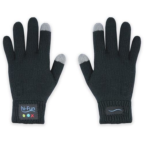 Перчатки-гарнитура Hi-Fun hi-Call мужские чёрныеПерчатки для экрана<br>Перчатки-гарнитура Hi-Fun hi-Call созданы специально для морозной зимы.<br><br>Цвет товара: Чёрный<br>Материал: Полиакрилонитрил