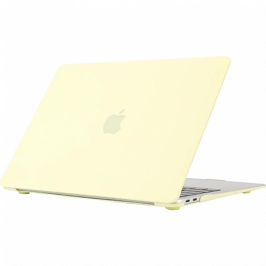 """Чехол-накладка Crystal Case для MacBook Pro 16"""" 2019 пластиковый лимонный крем"""