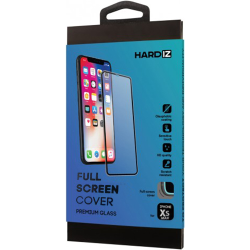 Защитное стекло HARDIZ Full Screen Cover Premium Glass для iPhone 11 Pro Max/Xs Max с чёрной рамкой