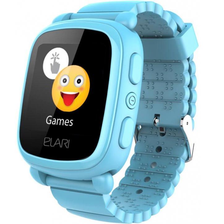 Детские часы-телефон Elari KidPhone 2 c GPS/LBS-трекером голубые