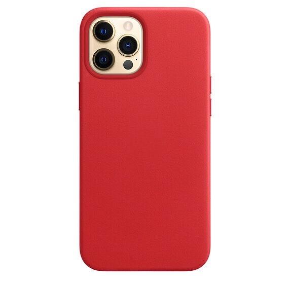 Чехол YablukCase Leather Case для iPhone 12 Pro Max красный