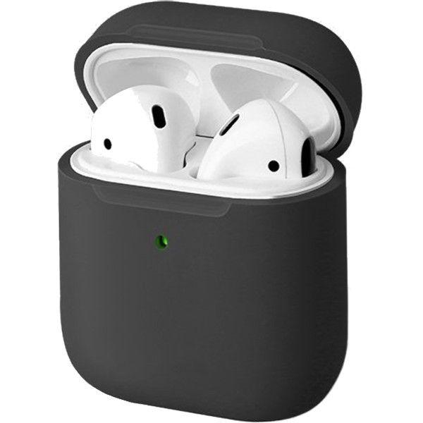 Силиконовый чехол Uniq Lino Liquid Silicone Case для AirPods 2 (Wireless) серый