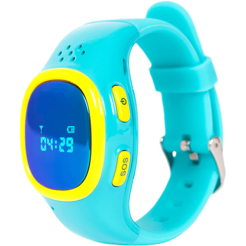 Детские часы-телефон для детей Enjoy the Best (EnBe) Children Watch 2 с функцией GPS-трекера голубые