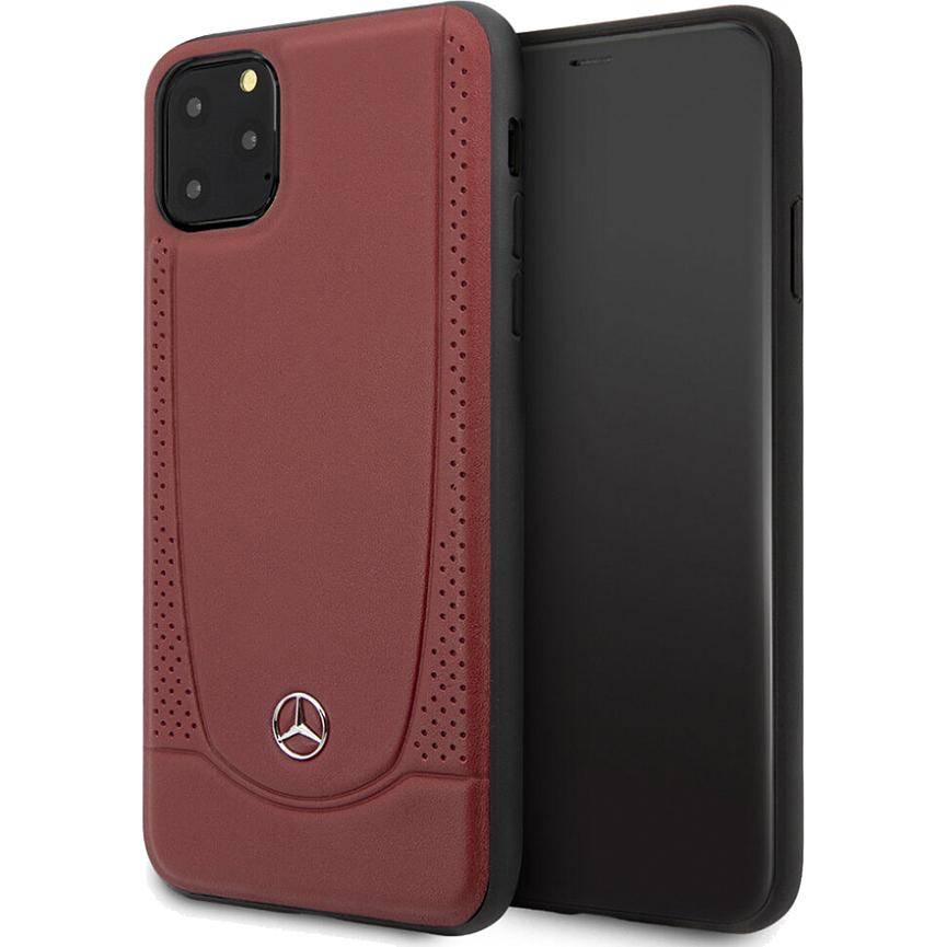 Чехол Mercedes Urban Smooth Perforated Hard Leather для iPhone 11 Pro красный