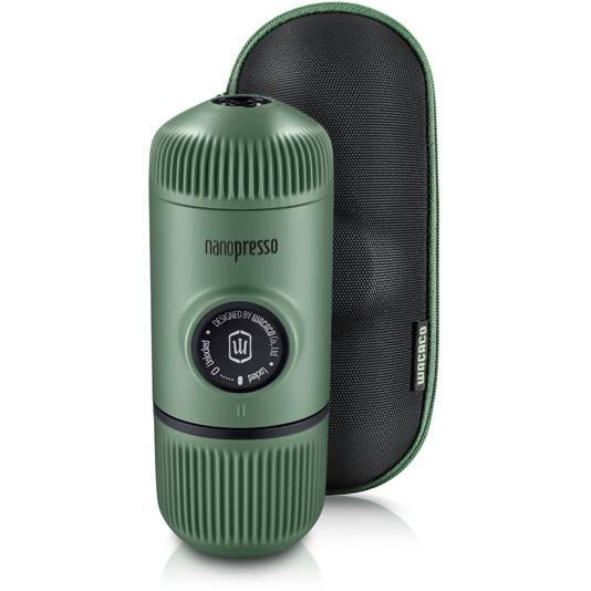 Портативная кофемашина Wacaco Nanopresso Elements зелёная Moss Green (с чехлом)
