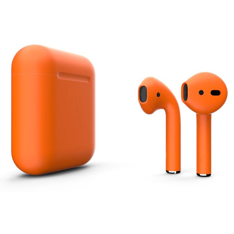 Беспроводные наушники Apple AirPods 2 (второе поколение) Custom Edition оранжевые матовые