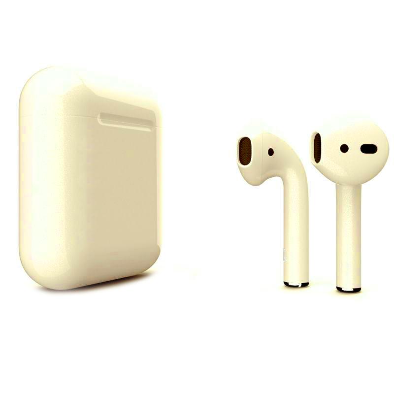 Беспроводные наушники Apple AirPods 2 (второе поколение) Custom Edition перламутровые глянцевые