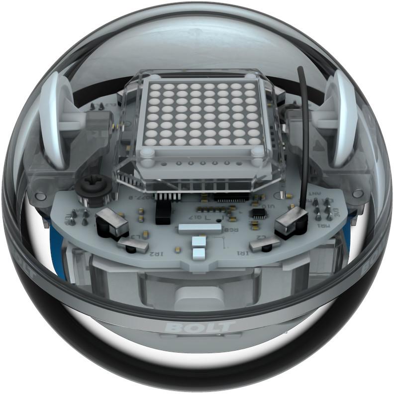 Радиоуправляемый робот Sphero BOLT чёрный прозрачный