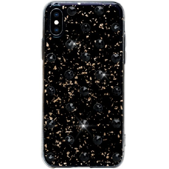 Чехол Bling My Thing Extravaganza Swarovski для iPhone X/Xs Polka Dots Jet чёрный (ipxs-pd-bk-jet)