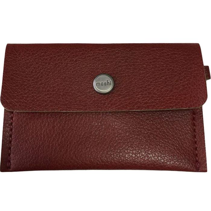 Минималистичный кошелек Moshi Slim Wallet красный