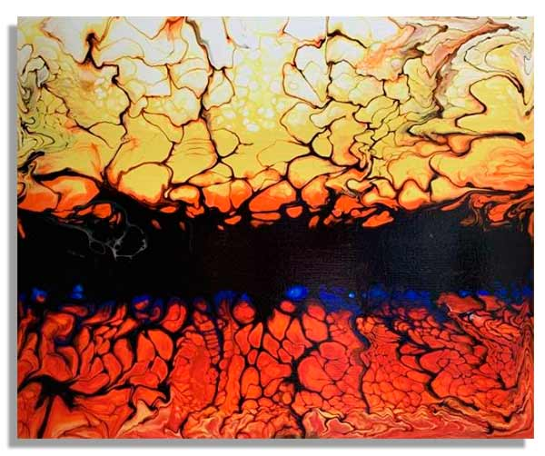 Интерьерная картина FluidArt (40 х 50 см) Fire