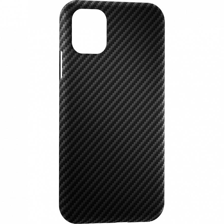 Чехол Annet Mancini Carbon Series для iPhone 12 чёрный матовый (AM-12PRO-K-BK)