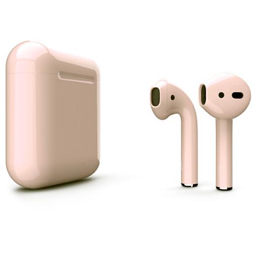 Беспроводные наушники Apple AirPods 2 (второе поколение) Custom Edition телесные глянцевые