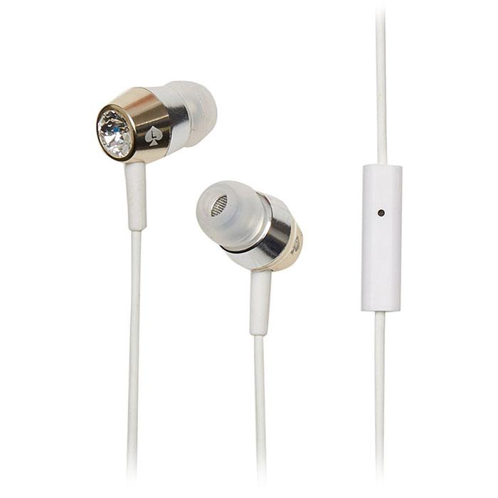 Наушники Kate Spade New York Crystal Earbuds золотые/серебристые/прозрачные