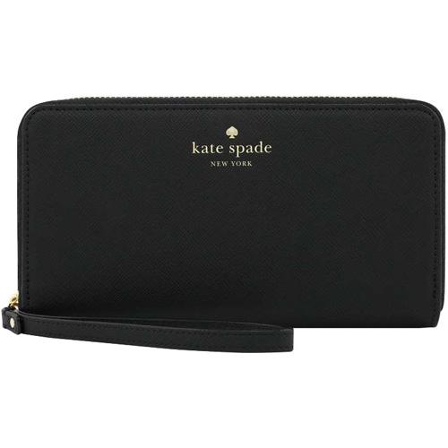 Кошелёк Kate Spade New York Zip Wristlet (сафьяновая кожа) чёрный