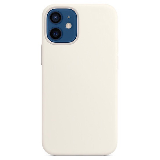 Силиконовый чехол YablukCase Silicone Case для iPhone 12 mini белый