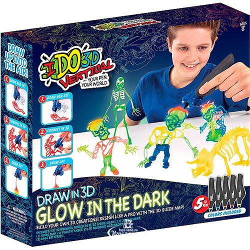 Набор 3D ручек IDO3D Vertical Glitter «Зомби» (166095) 5 ручек светящихся в темноте