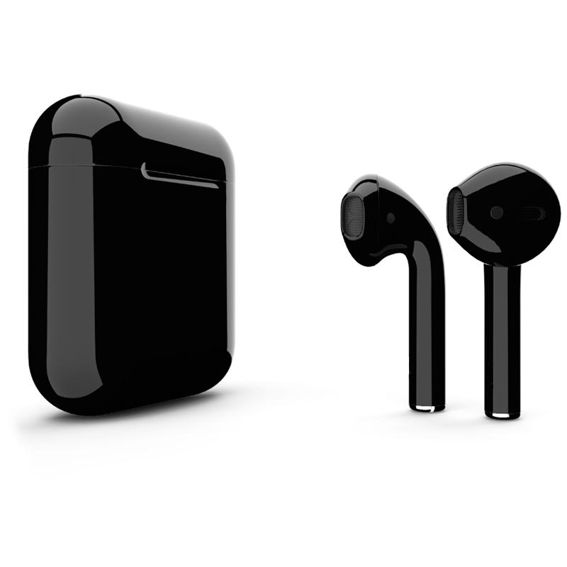 Беспроводные наушники Apple AirPods 2 (второе поколение) Custom Edition чёрные глянцевые