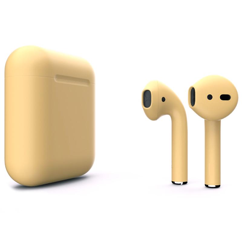 Беспроводные наушники Apple AirPods 2 (второе поколение) Custom Edition золотые матовые