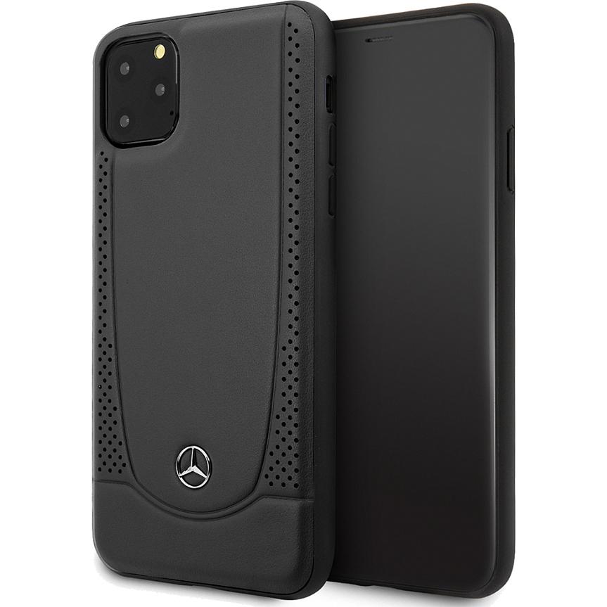 Чехол Mercedes Urban Smooth Perforated Hard Leather для iPhone 11 Pro чёрный