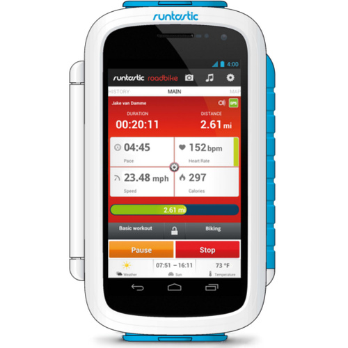 Велосипедный держатель Runtastic Bike Case для Android смартфонов белый