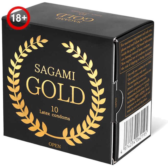 Презервативы Sagami Xtreme Gold (10 шт.) из латекса золотые