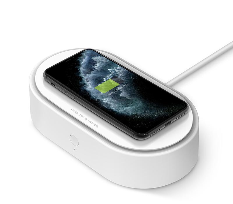 Санитайзер LyFRO Air Capsule UVC Disinfection Box Wireless с беспроводной зарядкой белый (7.5W/10W)
